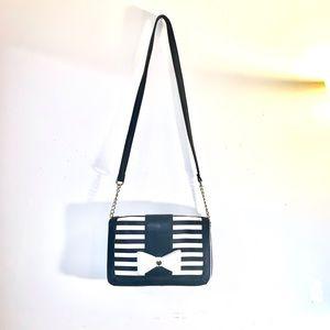 Betsey Johnson black and white striped bag